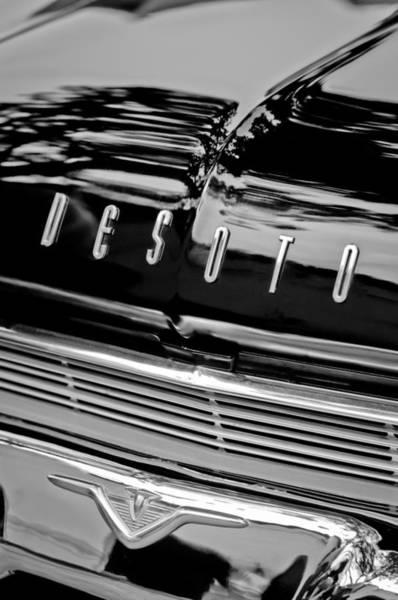 Photograph - 1959 Desoto Adventurer Hood Emblem by Jill Reger