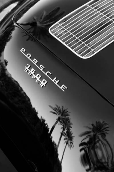 Convertible Photograph - 1959 Porsche 356 A 1600 Convertible D Rear Emblem by Jill Reger