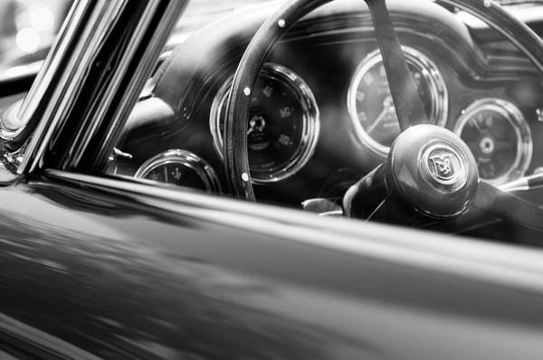 Photograph - 1960 Aston Martin Db4 Series II Steering Wheel by Jill Reger