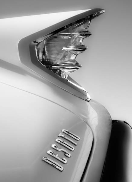 Photograph - 1960 Desoto Fireflite Two-door Hardtop Taillight Emblem by Jill Reger