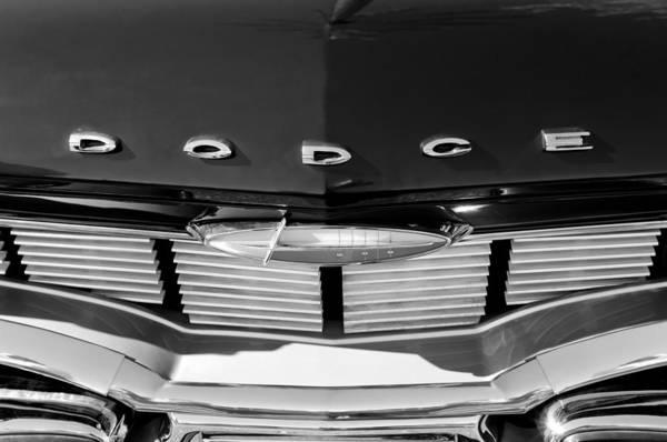 Photograph - 1960 Dodge Grille Emblem by Jill Reger