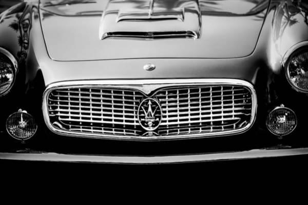 Photograph - 1960 Maserati 3500 Gt Spyder Grille Emblem by Jill Reger