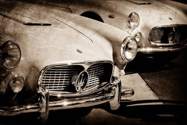 Grilles Photograph - 1960 Maserati Grille Emblem by Jill Reger