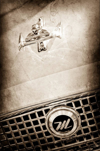 Photograph - 1960 Nash Metropolitan Hood Ornament - Grille Emblem by Jill Reger