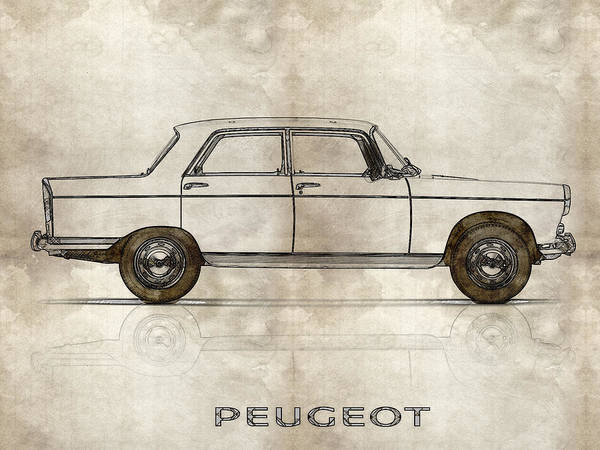Painting - 1960 Peugeot 404  by Celestial Images