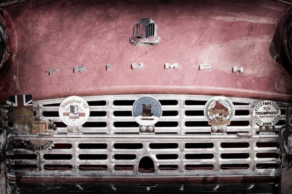 Photograph - 1960 Triumph Tr3 Grille Emblems by Jill Reger