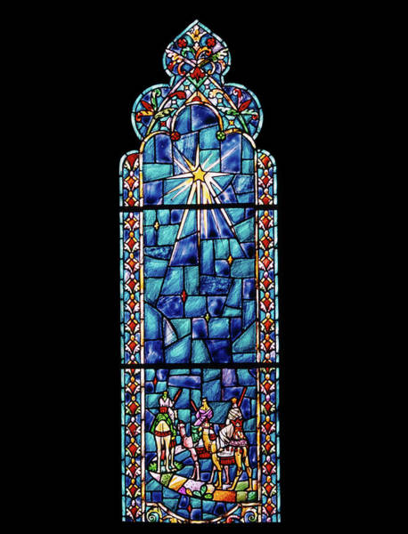 Bethlehem Wall Art - Photograph - 1960s Stained Glass Window Design by Vintage Images
