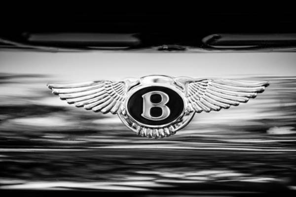 Wall Art - Photograph - 1961 Bentley S2 Continental - Flying Spur - Emblem by Jill Reger