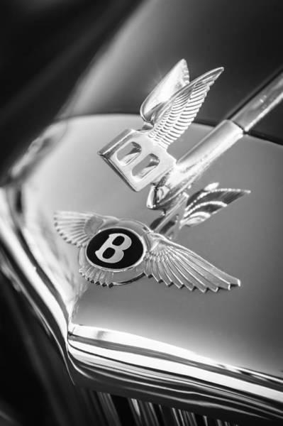 Photograph - 1961 Bentley S2 Continental  Hood Ornament - Emblem by Jill Reger