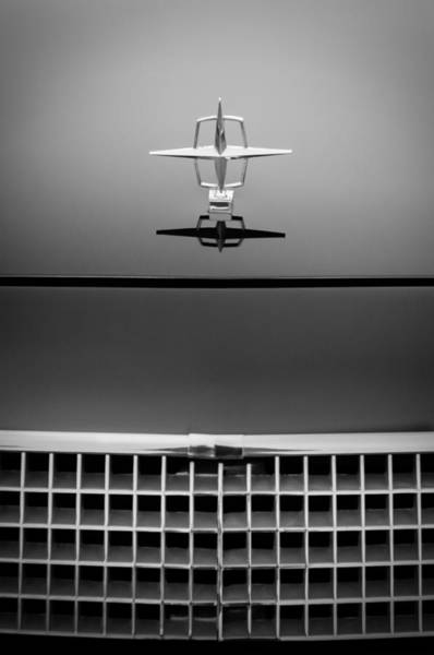 Vintage Hood Ornaments Photograph - 1961 Lincoln Continental Hood Ornament by Jill Reger