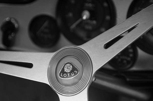 Photograph - 1961 Lotus Elite Series II Coupe Steering Wheel Emblem by Jill Reger