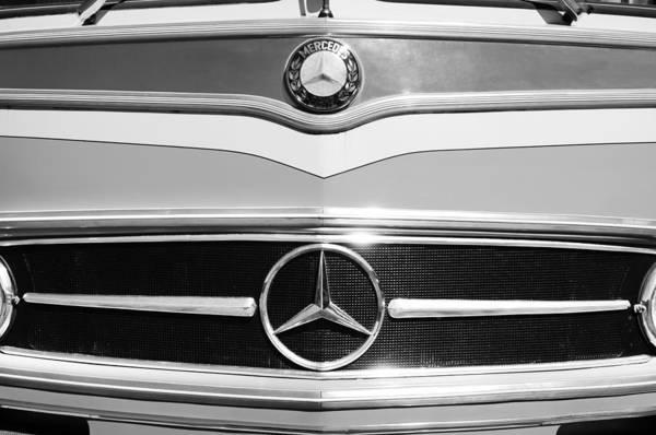 Photograph - 1961 Mercedes-benz Type O321h Bus Grille Emblem by Jill Reger