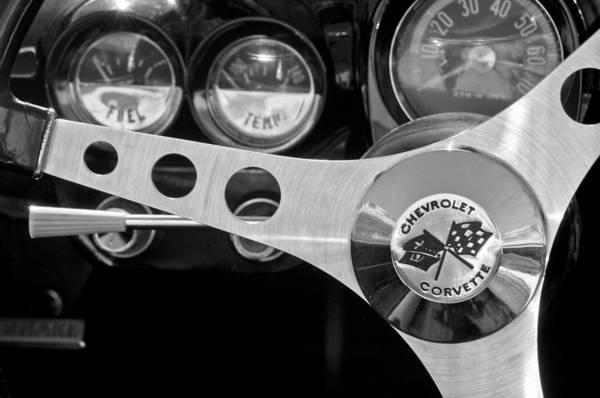 Photograph - 1962 Chevrolet Corvette Convertible Steering Wheel by Jill Reger