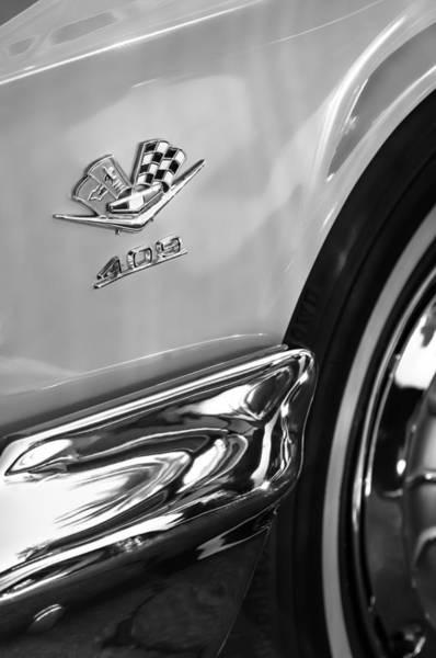Impala Photograph - 1962 Chevrolet Impala Ss 409 Emblem by Jill Reger