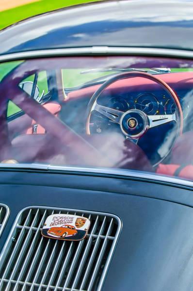 Photograph - 1962 Porsche 356 Super 90 Hood Emblem by Jill Reger