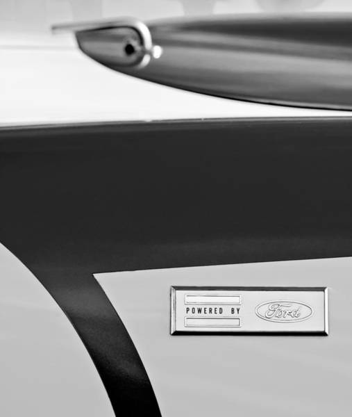 Photograph - 1962 Shelby Cobra 289 Ford Emblem by Jill Reger