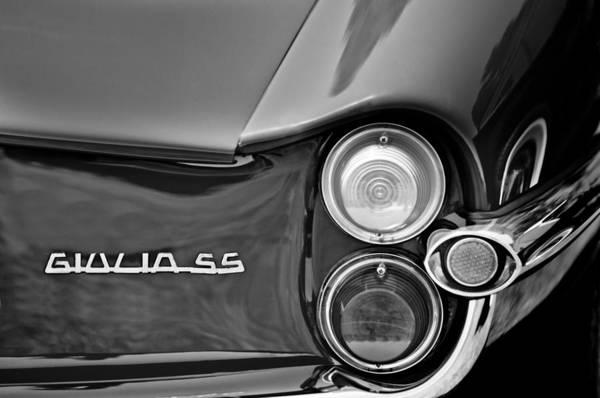Photograph - 1963 Alfa Romeo Giulia Sprint Special Ss Taillight Emblem by Jill Reger