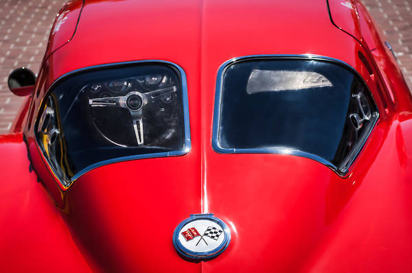 Wall Art - Photograph - 1963 Chevrolet Corvette Split Window -1073c by Jill Reger