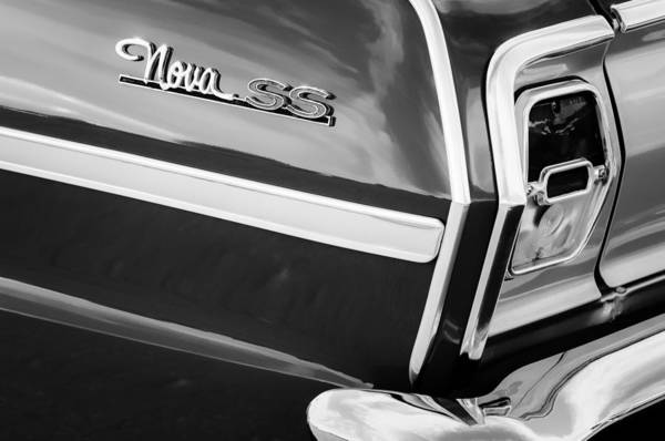 Convertible Photograph - 1963 Chevrolet Nova Convertible Taillight Emblem by Jill Reger