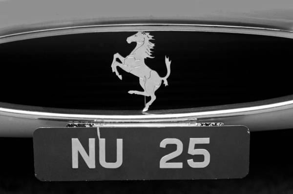 Auto Show Photograph - 1963 Ferrari 250 Gto Scaglietti Berlinetta Grille Emblem by Jill Reger