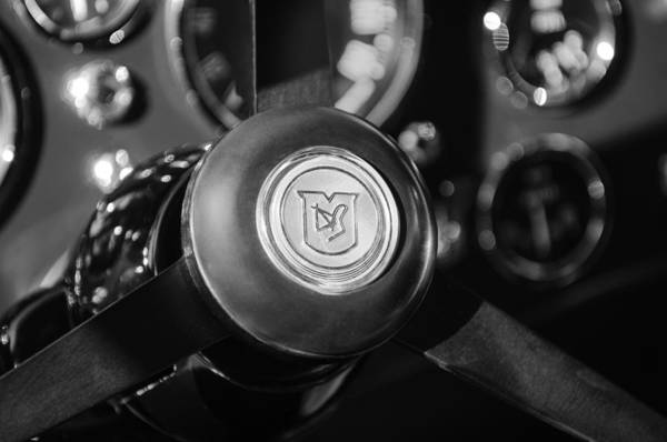 Photograph - 1964 Aston Martin Steering Wheel Emblem by Jill Reger