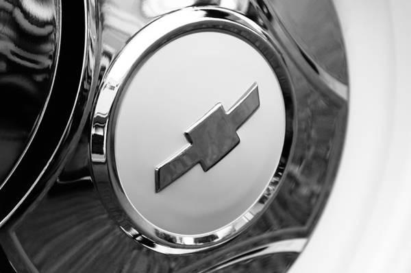 Chevy Truck Wall Art - Photograph - 1964 Chevrolet Pickup Truck K 10 Wheel Emblem by Jill Reger