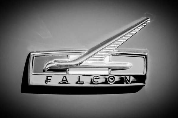 Falcons Photograph - 1964 Ford Falcon Emblem by Jill Reger