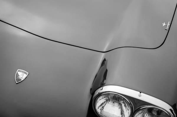 Photograph - 1964 Lamborghini 350 Gt Touring Coupe Hood Emblem by Jill Reger