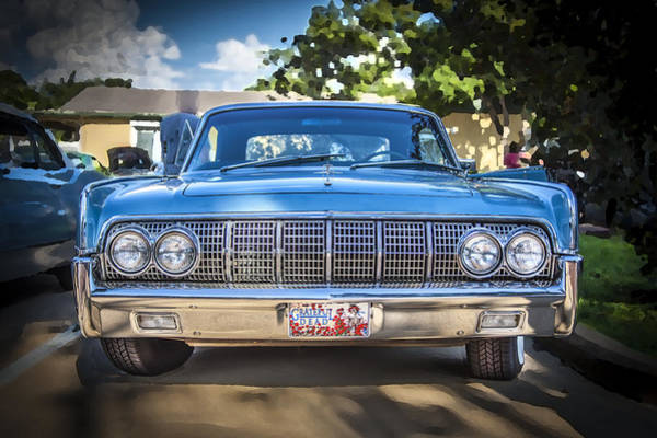 V8 Engine Photograph - 1964 Lincoln Continental Convertible  by Rich Franco