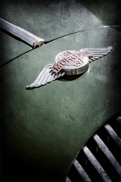 Photograph - 1964 Morgan 44 Hood Emblem by Jill Reger