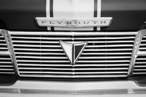 Photograph - 1964 Plymouth Valient Grille Emblem by Jill Reger