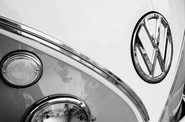 Photograph - 1964 Volkswagen Samba 21 Window Bus Vw Emblem by Jill Reger