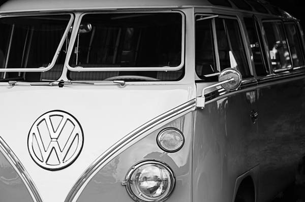 1964 Volkswagen Vw Samba 21 Window Bus Art Print