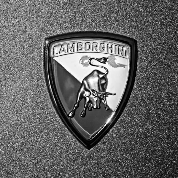 Photograph - 1965 Lamborghini 350 Gt Emblem by Jill Reger