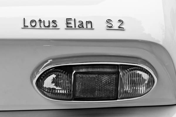 Photograph - 1965 Lotus Elan S2 Taillight Emblem by Jill Reger