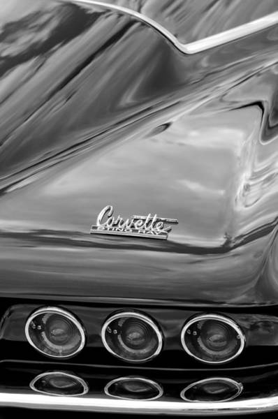 Tail Light Photograph - 1966 Chevrolet Corvette Tail Lights by Jill Reger