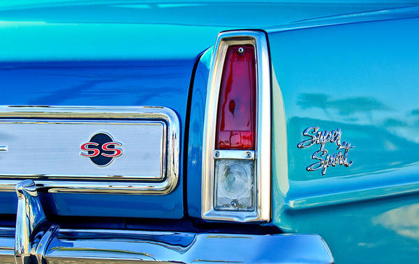 Photograph - 1966 Chevrolet II Ss L79 Taillight Emblem by Jill Reger