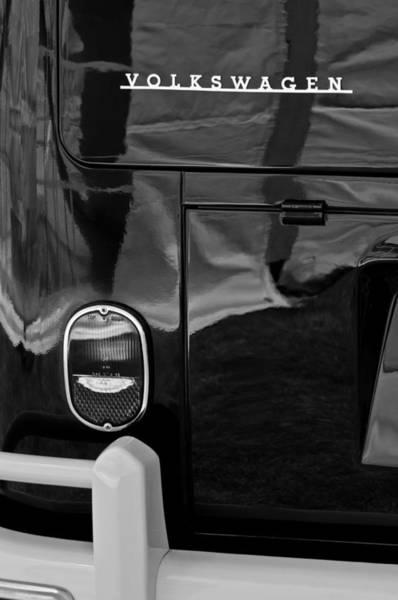 Volkswagen Photograph - 1966 Volkswagen 21-window Microbus Taillight Emblem by Jill Reger