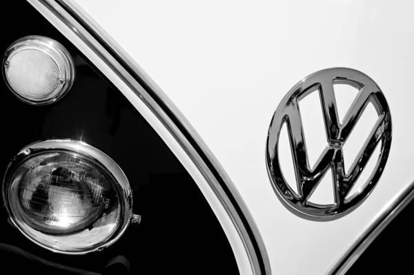 Volkswagen Photograph - 1966 Volkswagen Vw Microbus Emblem by Jill Reger