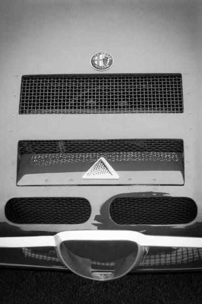 Photograph - 1967 Alfa Romeo Tz2 Zagato Coupe Hood Ornament by Jill Reger
