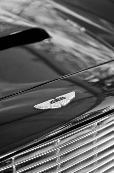 Photograph - 1967 Aston Martin Db6 Coupe Hood Emblem by Jill Reger