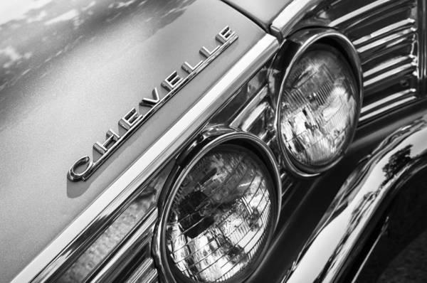 Malibu Photograph - 1967 Chevrolet Chevelle Malibu Head Light Emblem by Jill Reger