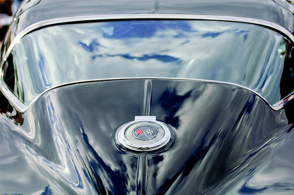 Wall Art - Photograph - 1967 Chevrolet Corvette Rear Emblem by Jill Reger