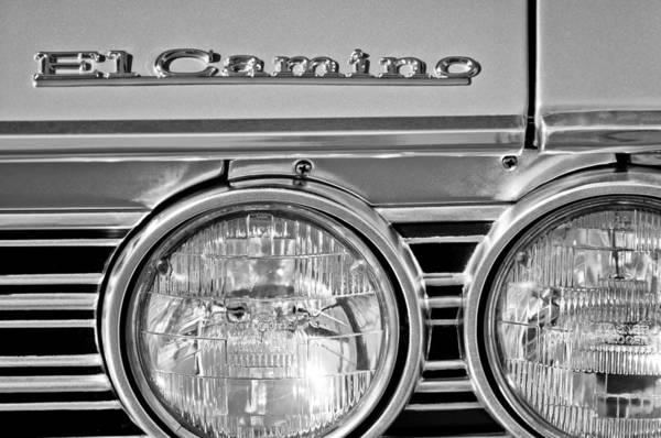 Wall Art - Photograph - 1967 Chevrolet El Camino Pickup Truck Headlight Emblem by Jill Reger