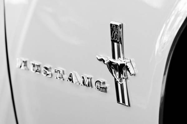 Photograph - 1967 Ford Mustang Side Emblem by Jill Reger