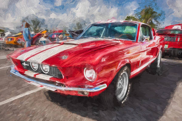 Interceptor Photograph - 1967 Ford Shelby Mustang Gt500 Painted  by Rich Franco