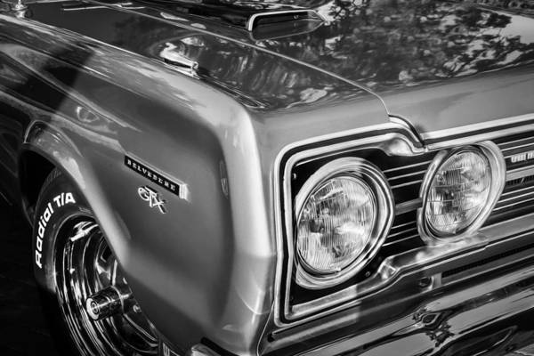 Photograph - 1967 Plymouth Belvedere Gtx 440 Painted Bw   by Rich Franco