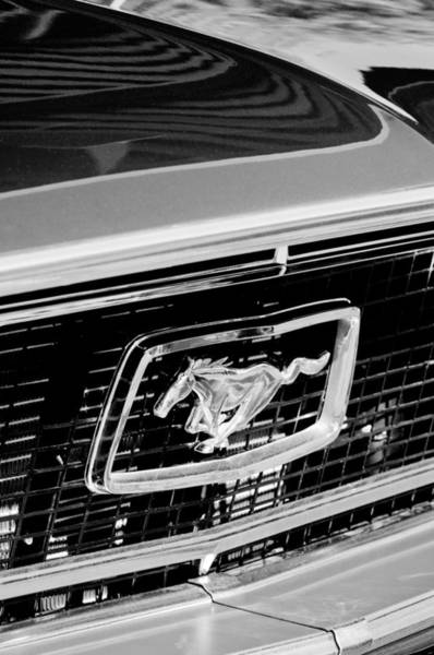 Photograph - 1968 Ford Mustang Cobra Gt 350 Grille Emblem by Jill Reger