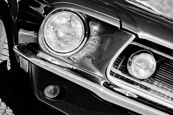 Photograph - 1968 Ford Mustang Cobra Gt 350 Head Light by Jill Reger