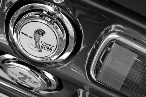 Photograph - 1968 Ford Mustang - Shelby Cobra Gt 350 Taillight And Gas Cap by Jill Reger